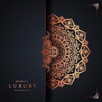 Luxus-mandala-hintergrund premium-vektor