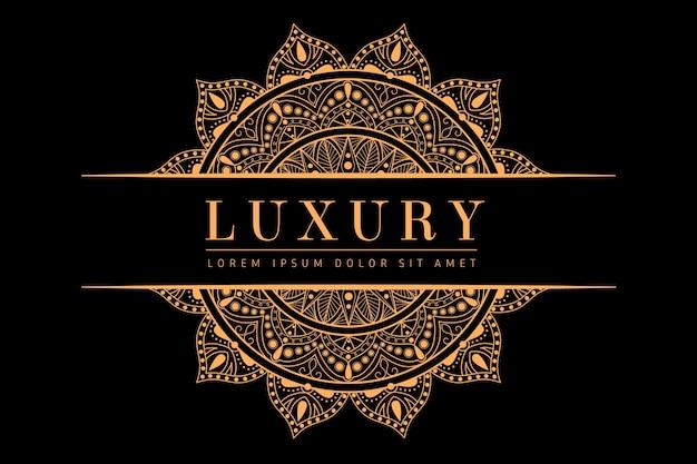 Luxus mandala hintergrund