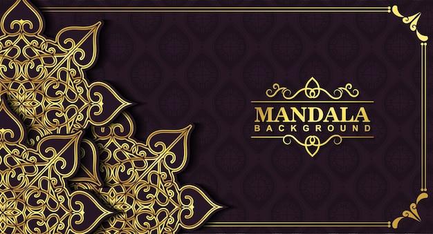 Luxus-mandala-hintergrundkonzept