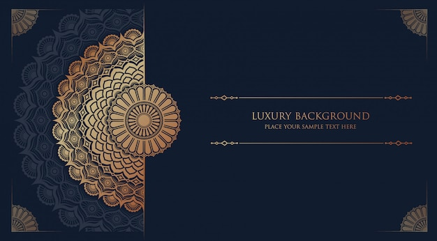 Luxus mandala islamischen hintergrund