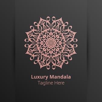 Luxus-mandala-logo-vorlage