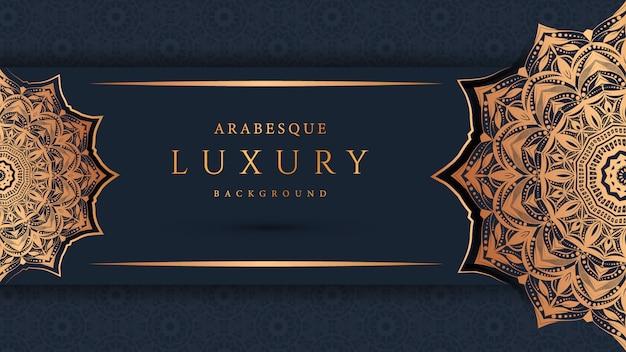 Luxus-mandala mit goldenem arabeskenmuster. arabisch-islamischer oststil