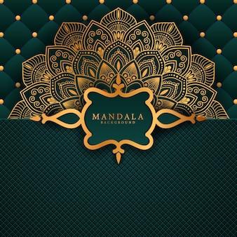 Luxus-mandala mit goldenem arabeskenmuster