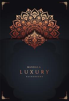Luxus mandala moderner hintergrund premium-vektor