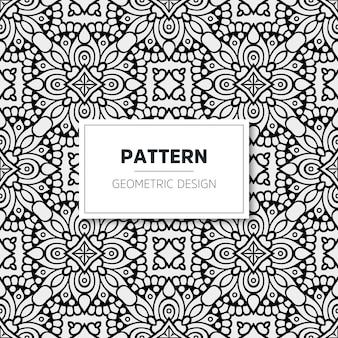 Luxus-mandala-muster. geometrisches design