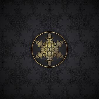 Luxus-mandala-musterhintergrund