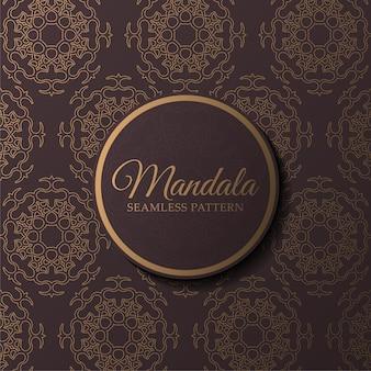 Luxus-mandala nahtlose mustervorlage