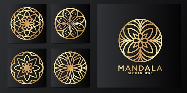 Luxus-mandala-ornament-logo