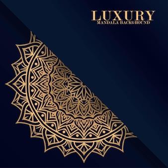 Luxus-mandala runder ornament-muster-hintergrund