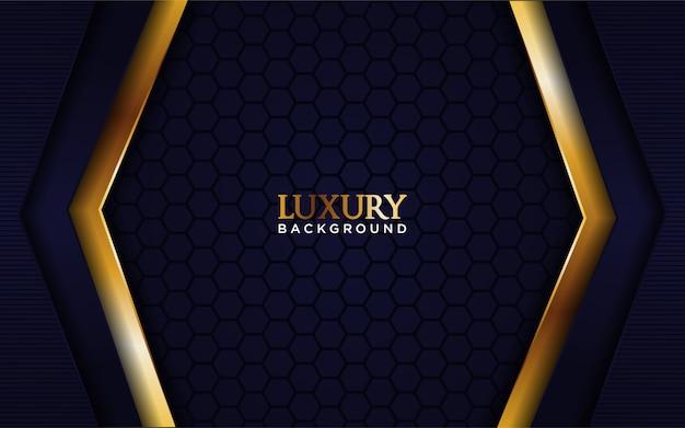 Luxus marineblau hintergrund mit goldlinie