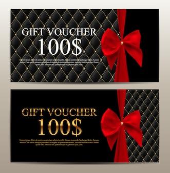 Luxus-mitglieder, geschenkgutschein-vorlage
