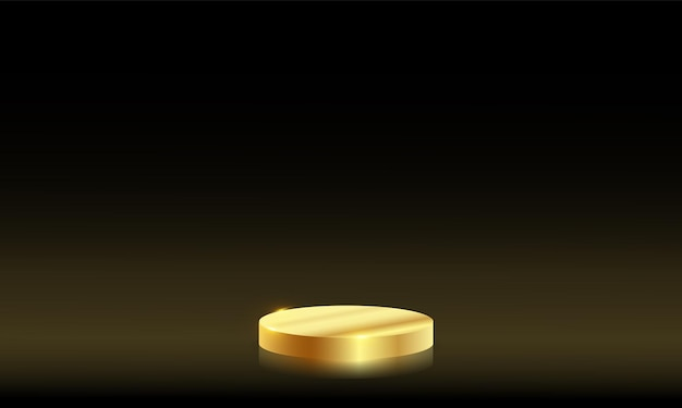 Luxus-mockup-szene. geometrie form podium goldmetall hintergrund für product.vector 3d