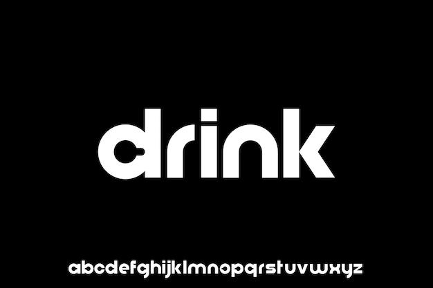 Luxus moderne schrift alphabetische vektor-set