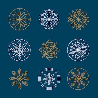 Luxus-monogramm-logo-design-vorlage-set