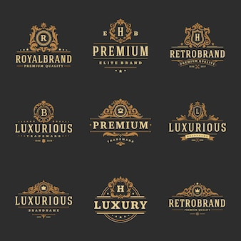 Luxus-monogramm-logos