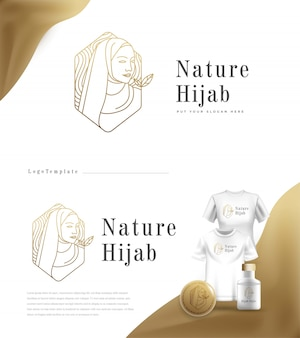 Luxus natur logo hijab mode
