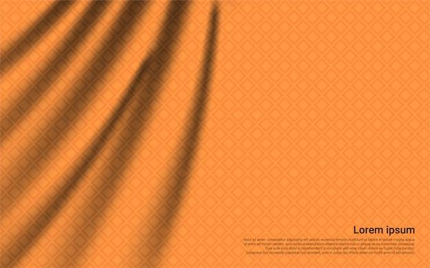 Luxus orange vorhang hintergrund