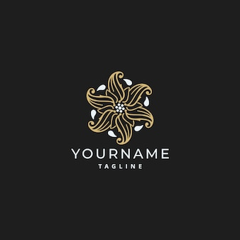 Luxus-ornament einfaches mandala-logo-design