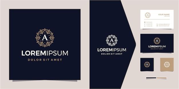 Luxus-ornament oder muster-emblem-logo