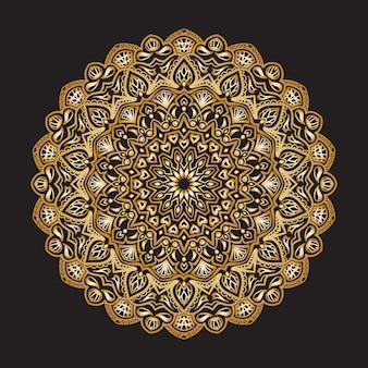 Luxus ornamentales mandala islamische dekoration blumengold