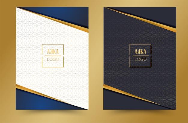 Luxus paket menü cover design geometrisch