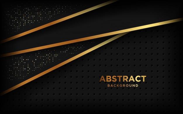 Luxus papierschnitt hintergrund, abstrakte dekoration, goldenes muster, halbtonverläufe.