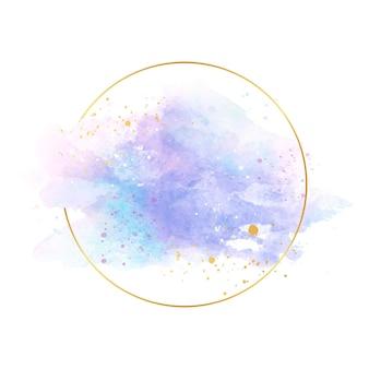 Luxus pastellblau goldenen rahmen