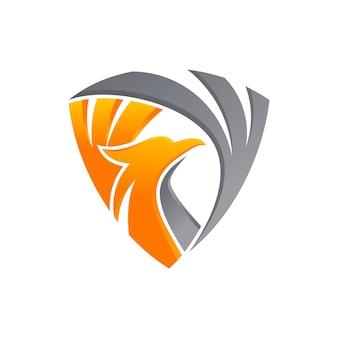Luxus phoenix schild logo vorlage