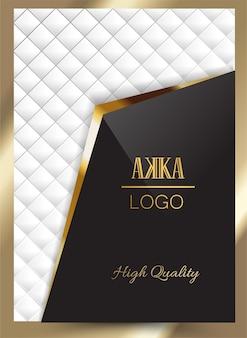 Luxus premium cover menü design geometrisch
