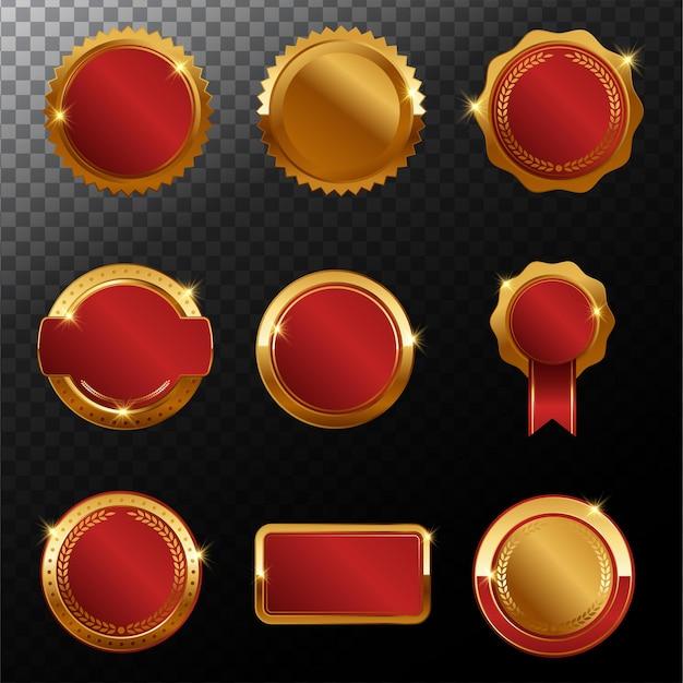 Luxus premium golden badge labels kollektion