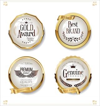 Luxus premium goldene abzeichen