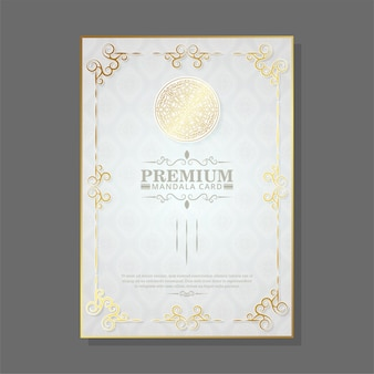 Luxus premium mandala cover design