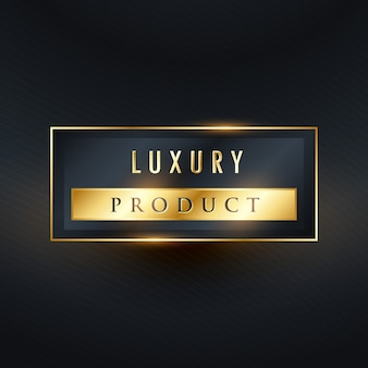 Luxus-produkt-premium-label-design in rechteck-form