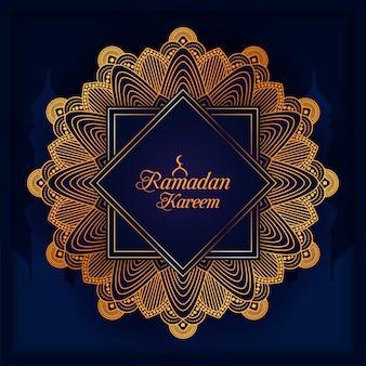 Luxus ramadan kareem mandala hintergrund