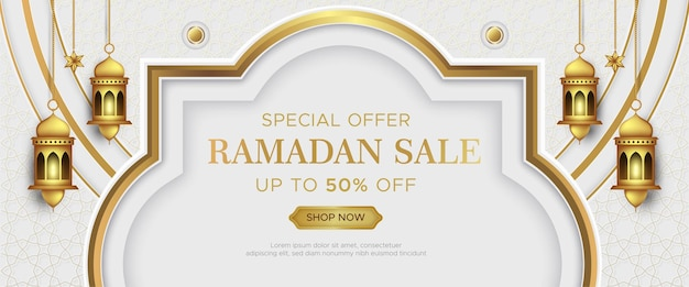 Luxus ramadan kareem verkauf banner vorlage