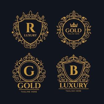 Luxus retro-logo-auflistung