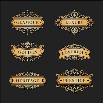 Luxus retro logo pack vorlage