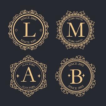 Luxus retro-logo-sammlung