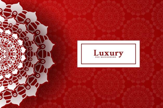 Luxus roten mandala hintergrund