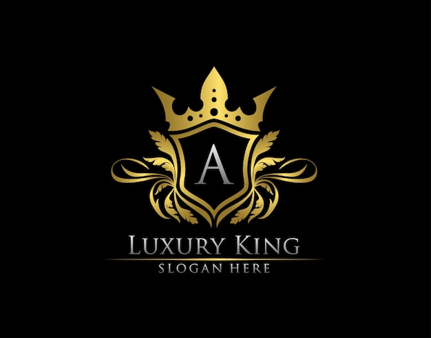 Luxus royal brief eine gold logo vorlage.