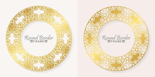 Luxus rundes rahmenrahmen-design
