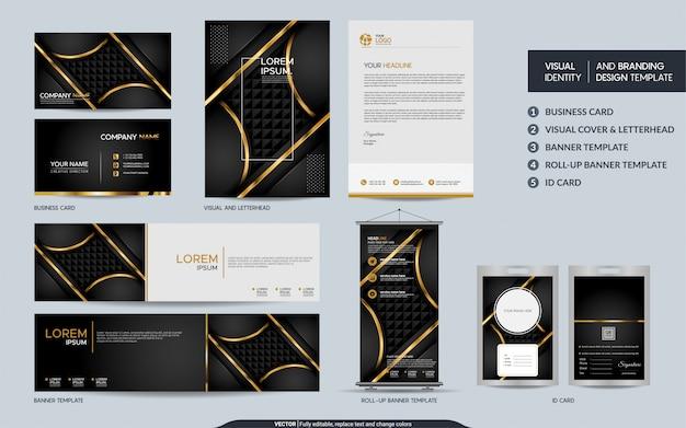 Luxus schwarz gold briefpapier festgelegt
