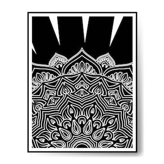 Luxus schwarz-weiß-mandala schwarz-weiß-dekoration