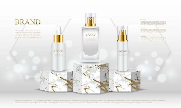 Luxus sechseckig steht für parfümflaschen