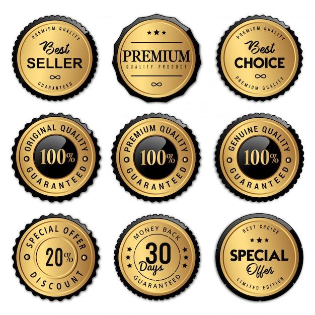 Luxus siegel abzeichen und etiketten premium-qualität