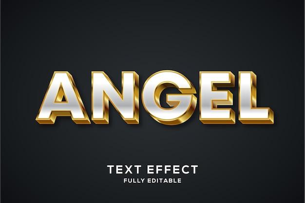 Luxus silber und gold text effekt