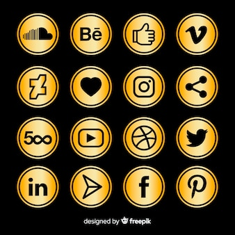 Luxus-social-media-logo-sammlung