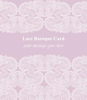 Luxus-spitzenkarte. handgemachte zarte ornamentdekore