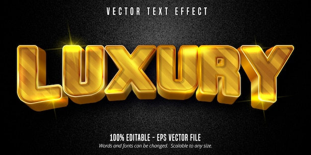Luxus text, glänzender goldener stil bearbeitbarer texteffekt