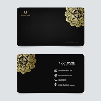 Luxus- und elegante goldvisitenkarteschablone